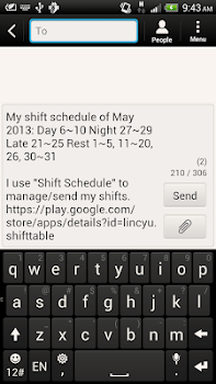 Shift Calendar (since 2013)