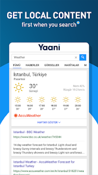 Yaani : Turkey's Search Engine & Browser