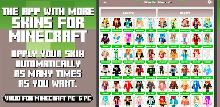 Skins For Minecraft PE PC By Kissapp S L Tools Category - Skins para minecraft pe pc