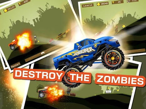 Mad Truck 2 -- physics monster truck hit zombie