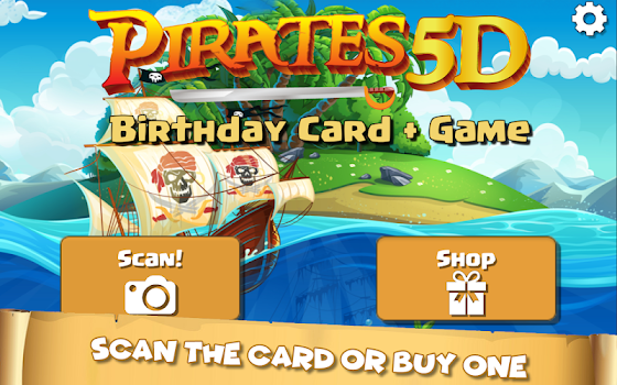 Pirates 5D Birthday Card + Game