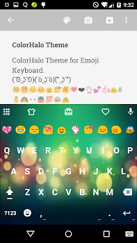 Color Halo Emoji Keyboard Skin By Colorful Design - Skin para minecraft pe oso