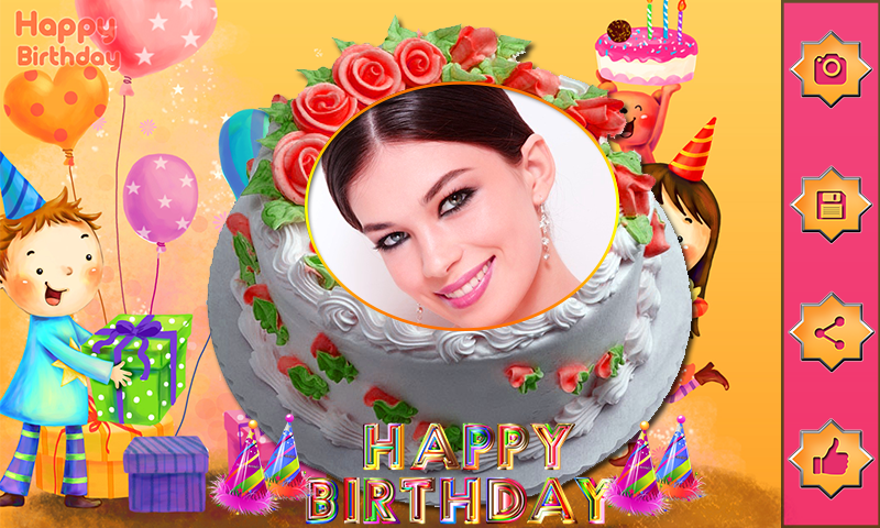 Name Photo On Birthday Cake Love Frames Editor By Free Apps