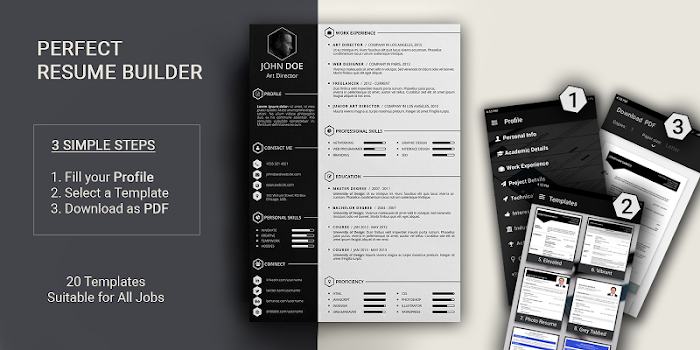 Free resume builder CV maker templates PDF formats - by Aristoz - #4 ...