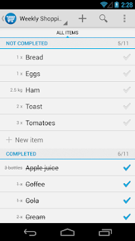 dont-forget.it Shopping List