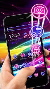 Neon sparkle line theme by launcher fantasy personalization neon sparkle line theme provides best icon pack and wallpaper voltagebd Images