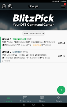 BlitzPick – DFS Command Center