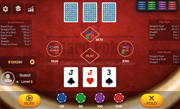Three Card Poker By Megawin Casinos Casino Games Category 572