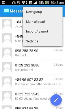 Messaging SMS