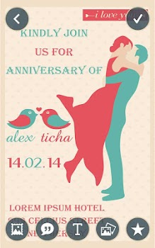 anniversary invitation card maker by pic frame photo collage maker