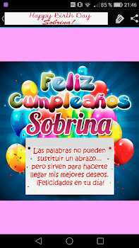 Feliz Cumpleanos Sobrina By Creative Image Apps Entertainment