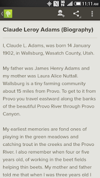 FamilySearch Memories