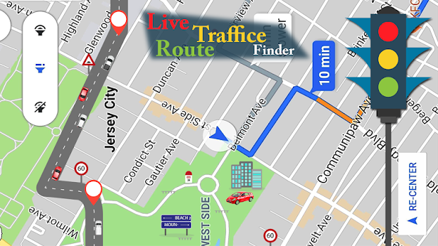 Voice Gps Navigator Live Traffic Transit Maps By App Scales