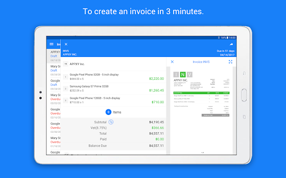 Invoice Maker Tiny Invoice By Appxy App In Invoice - Invoice app reviews
