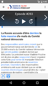 News in Slow French
