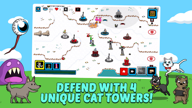 Cats & Cosplay TD: Defend the Kingdom Rush