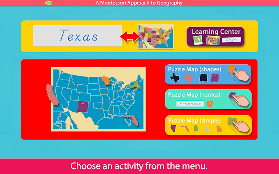Puzzle Map Of The United States.United States Puzzle Maps By Mobile Montessori By Rantek Inc
