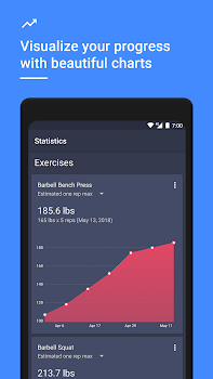 gym workout tracker planner for weight lifting by daily strength