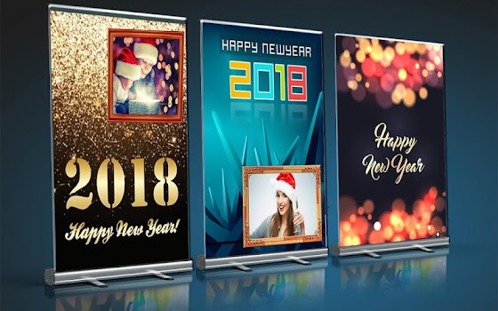 latest happy new year advance picture frame 2018