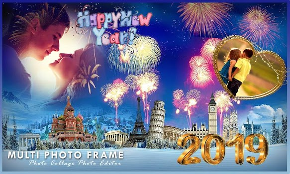 Happy New Year Photo Frames 2019 By Photo Collage Photo Editor