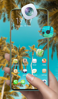 Summer palm tree nature theme   sky view coconut
