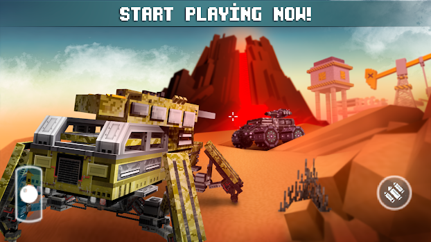 Blocky Cars Online Shooting Game By Fahrenheit Lab Action - Cool cars games online