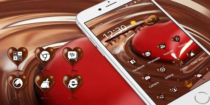 Love Chocolate Wallpaper Theme By Theme Dreamer Personalization