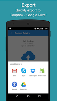 Easy Backup - Contacts Export and Restore