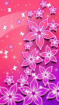 Beautiful Flowers Glowing Live Wallpapers