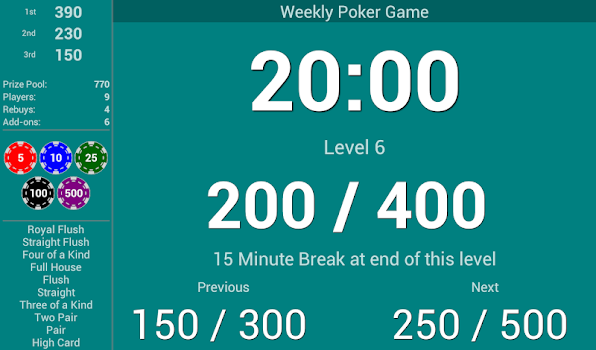 Blinds Are Up! Poker Timer