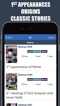 Key Collector Comics Database & Price Guide App