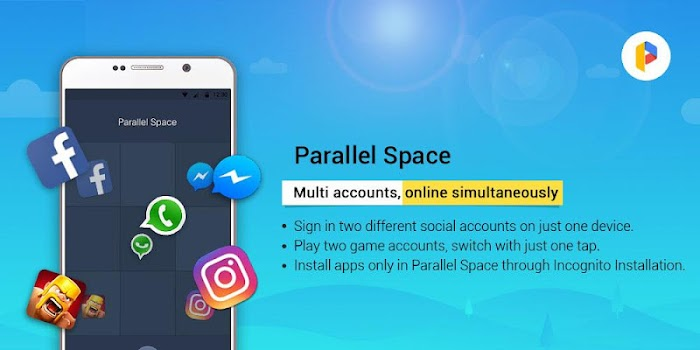 Parallel Space - Multiple accounts & Two face
