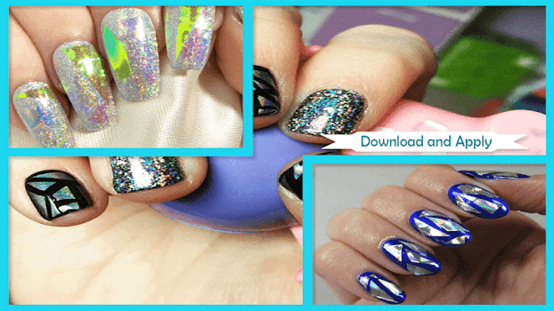 Holographic Shattered Glass Nail Art By Hector Apps Lifestyle