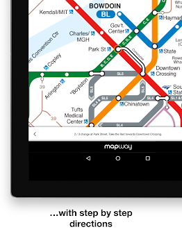 Boston T Mbta Subway Map And Route Planner By Mapway Maps