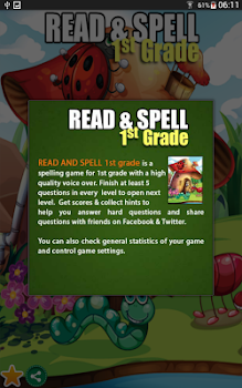 Read & Spell Game First Grade