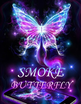 Smoking Neon Butterfly Live Wallpaper