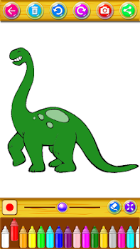 Dinosaurs Coloring Book Drawing Game