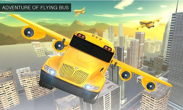 Flying School Bus Simulator 3D: Extreme Tracks