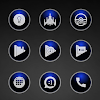 Glossy Blue Icons