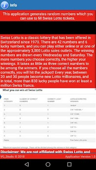Swiss Lotto Lucky Numbers Generator - by VG_Studio