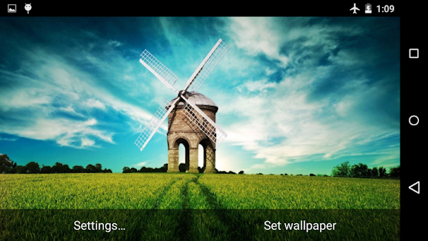 Windmill Live Wallpaper 4K