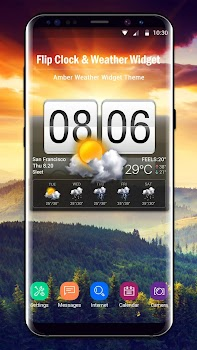 Flip Clock & Weather Widget