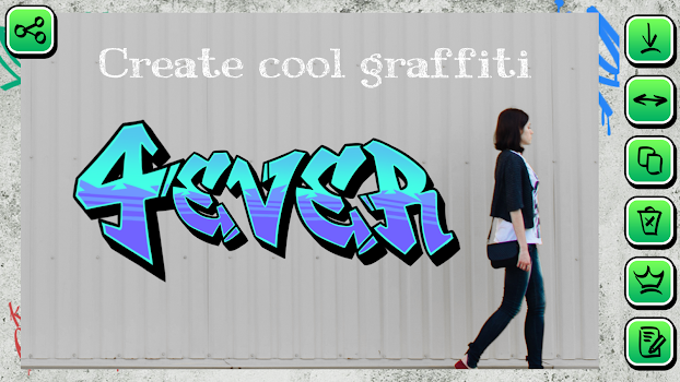 Graffiti Creator on Photo Text