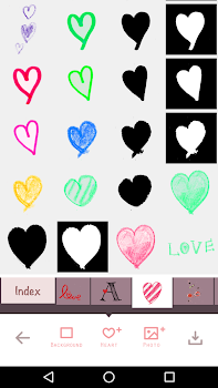 For heart stickers, My Heart Camera