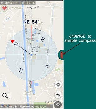 Compass for google map