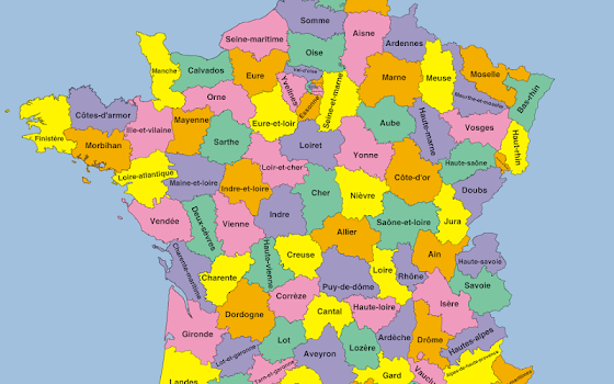 France Departments Map Puzzle