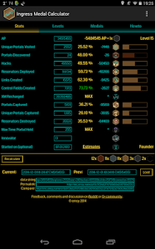 Ingress Medal Calculator