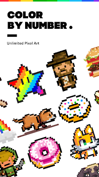 Pixel Paint Number Coloring Book