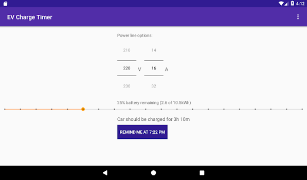 EV Charge Timer: Remind, Notify, Calculate Time