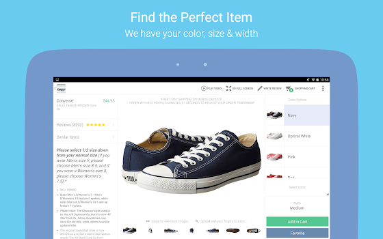 Zappos: Shoes, clothes, boots & fashion on the go